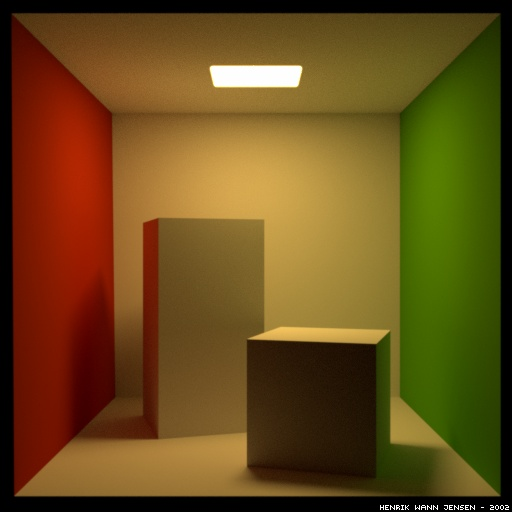 Spectral rendering of the Cornell box