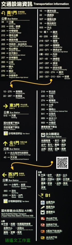台北車站平面圖 (Taipei Main Station Plan) (4/4)