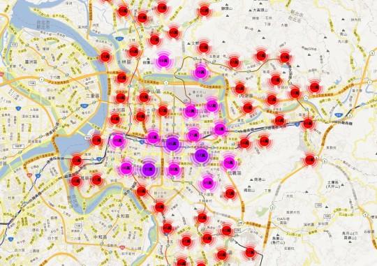 實價登錄地圖 - 台北市 大樓公寓華廈套房2