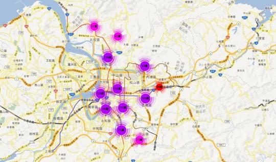 實價登錄地圖 - 台北市 店面