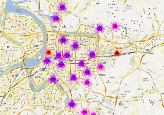 實價登錄地圖 - 台北市 店面2