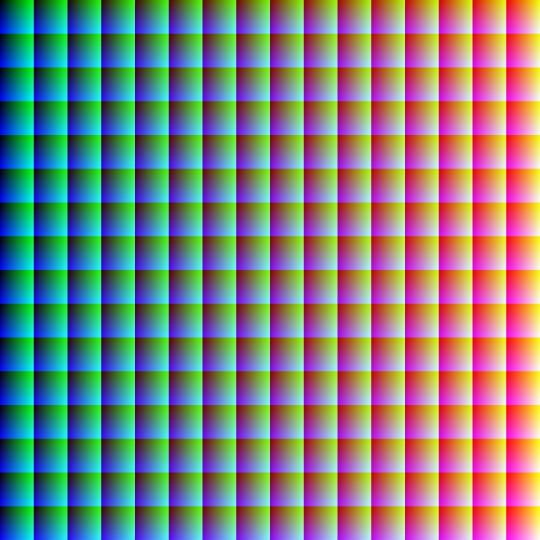 產生色彩空間 Create Color Space