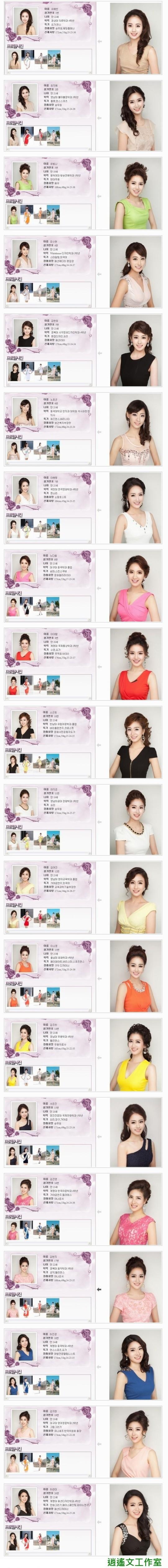 2013年韓國小姐候選人 (3)