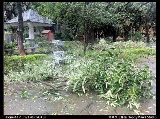 被蘇力颱風掃過的校園 (13)
