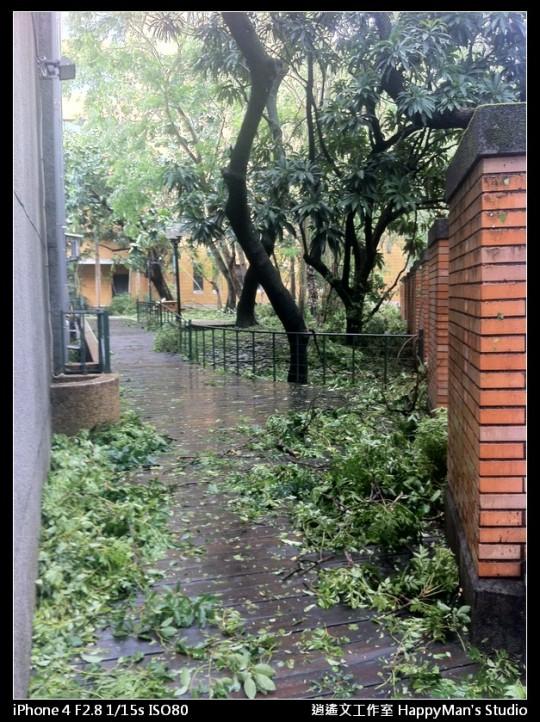 被蘇力颱風掃過的校園 (3)