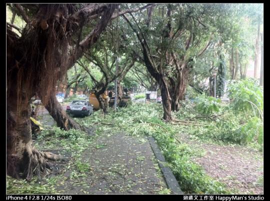 被蘇力颱風掃過的校園 (6)