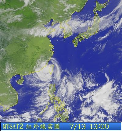 s1p-2013-07-13-13-00  蘇力颱風衛星雲圖