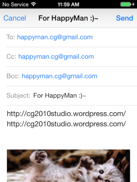 iOS 寄信 Send Mail