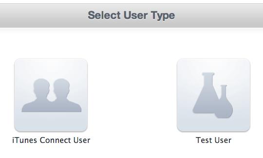create test user