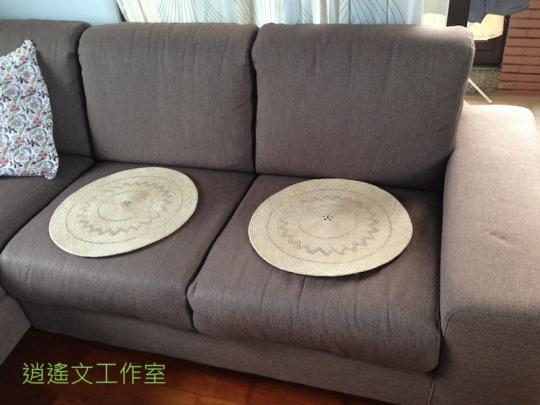 沙發上的草坐墊2