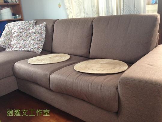 沙發上的草坐墊3
