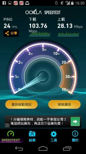 4G speed in Taichung