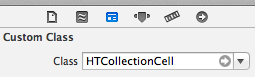 collection view cell xib custom class