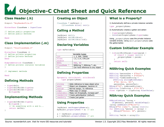 Objective-C-Cheat-sheet-v15