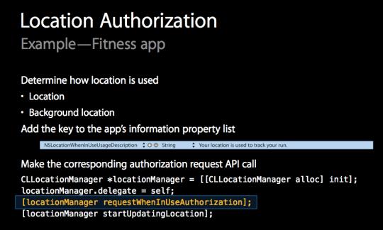 location authorization