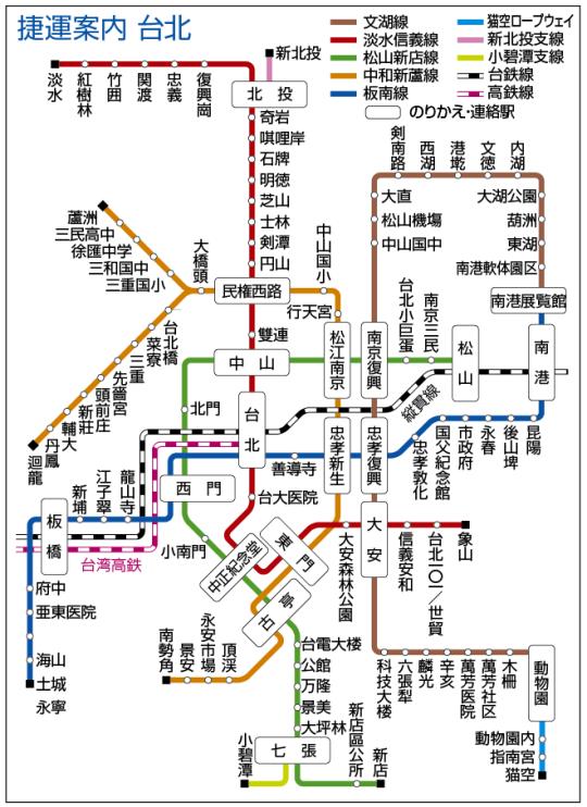 日本人眼中2015年台北捷運圖2