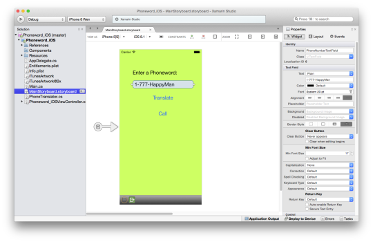 Xamarin Phoneword