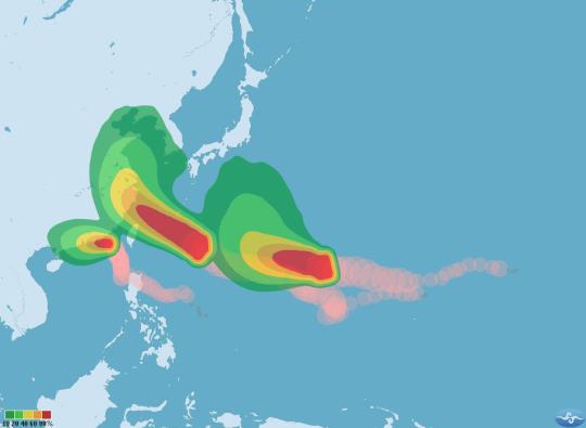 同時三個颱風侵襲台灣1