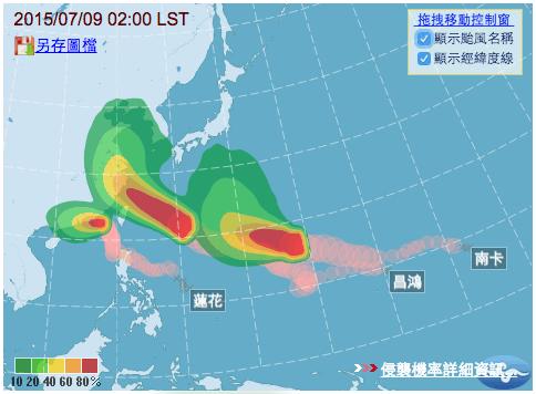 同時三個颱風侵襲台灣1a