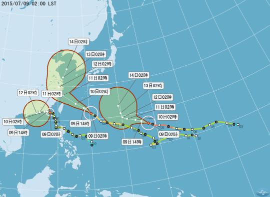 同時三個颱風侵襲台灣2