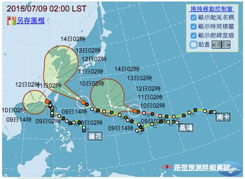 同時三個颱風侵襲台灣2a