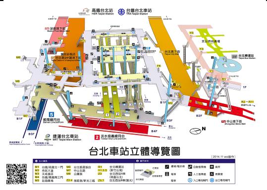 台北車站立體導覽圖