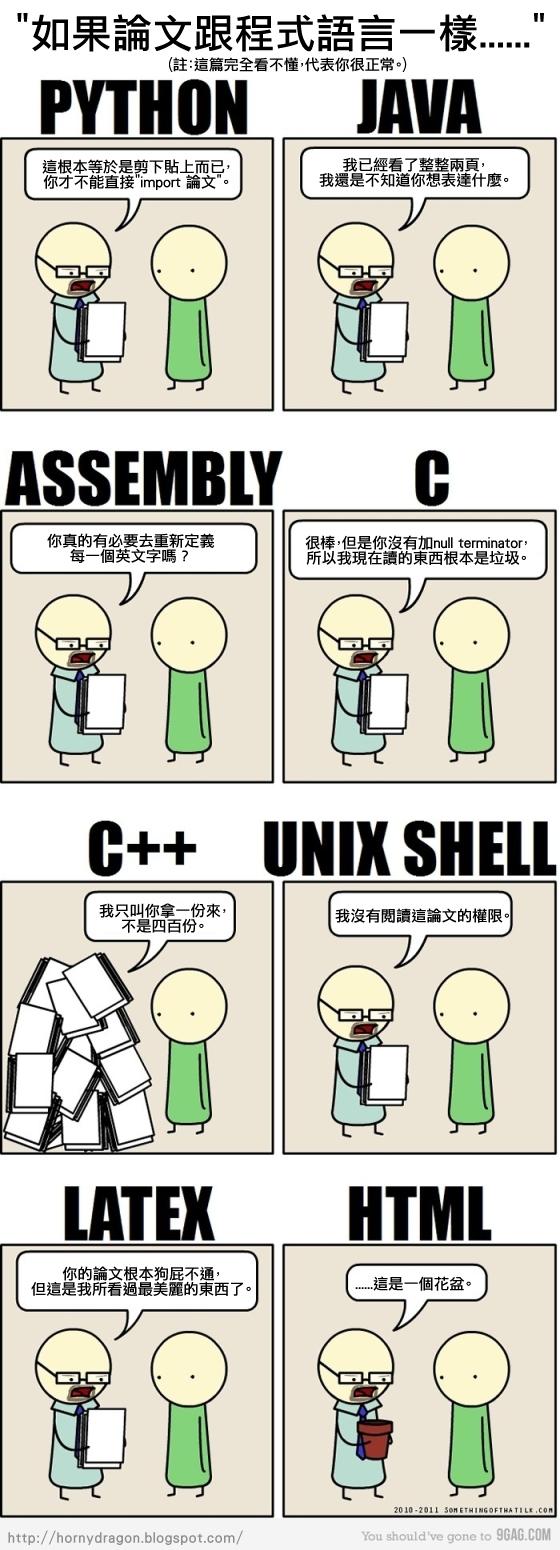 如果論文跟程式語言一樣