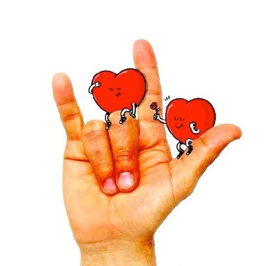 我愛你手勢