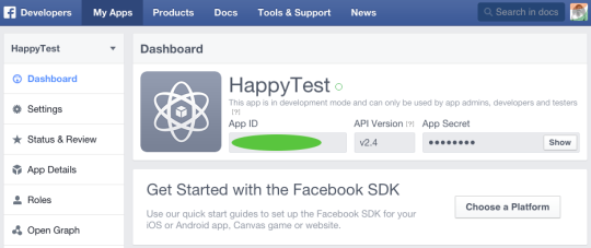 Facebook SDK developer