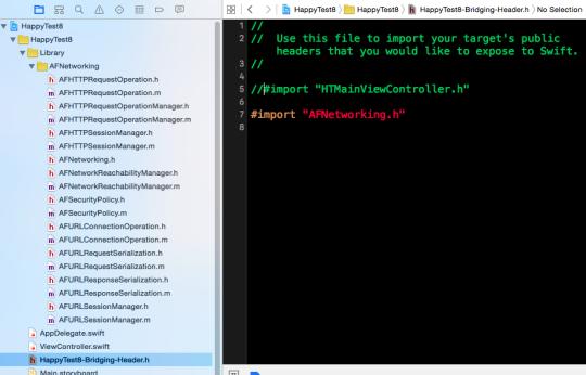 在Swift專案使用Objective C第三方套件