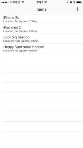 iOS iBeacon 測試2