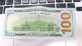 100元美金反面
