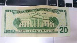20元美金背面