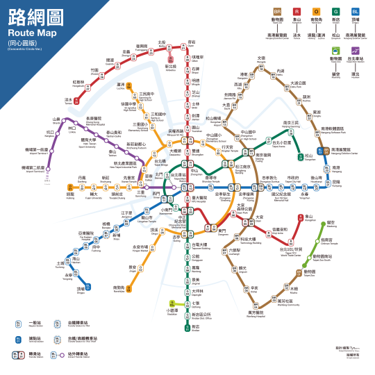 台北捷運編號同心圓路線圖 (Taipei MRT Numbering Circle Route Map).PNG