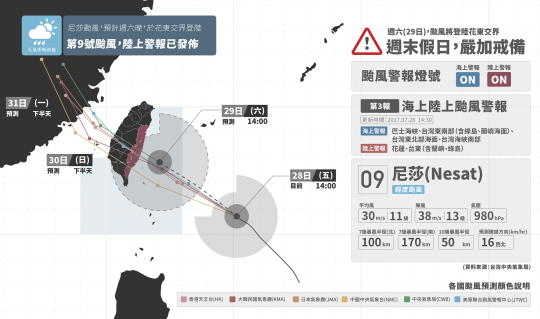 天氣即時預報 尼莎和海棠颱風00003