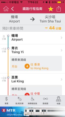香港地鐵 MTR Mobile App4