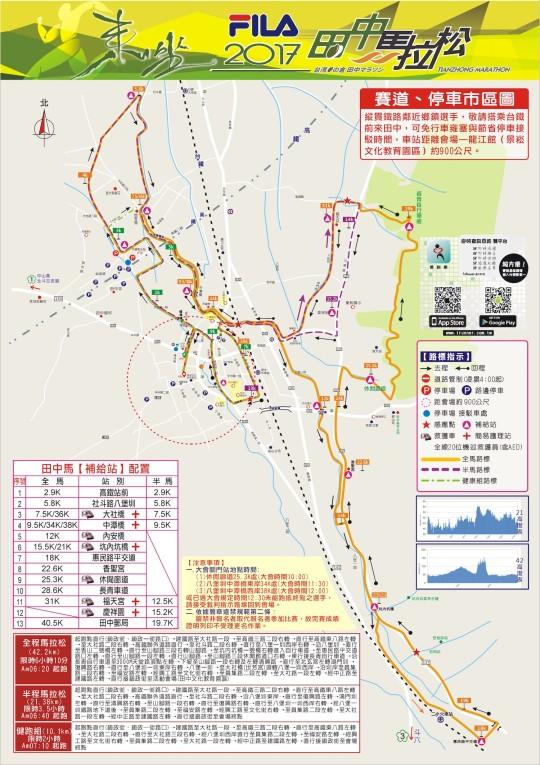 2017 田中馬拉松路線圖