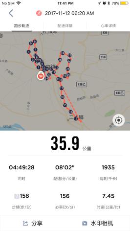 華米手環之田中馬拉松00001