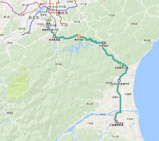 環島行程路徑Google Map00009