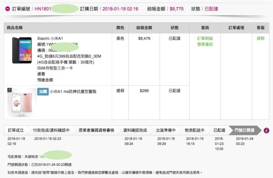 台灣之星訂單過程