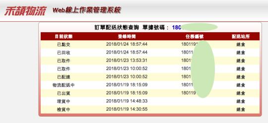 台灣之星配送過程