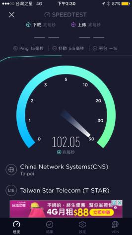 台灣之星測速內湖公司1