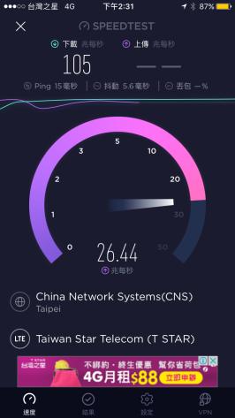 台灣之星測速內湖公司2