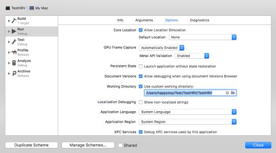 [Xcode] C++ 讀取所在目錄檔案