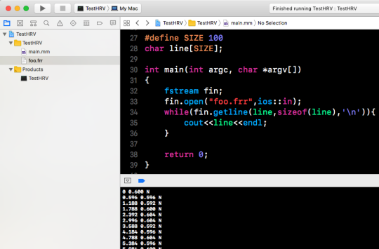 [Xcode] C++ 讀取所在目錄檔案2