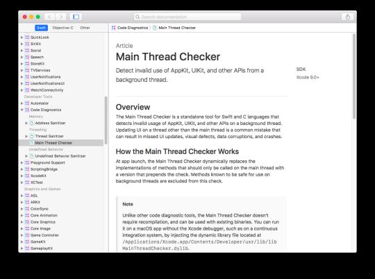 [Xcode] 主線程檢查器 (Main Thread Checker)2