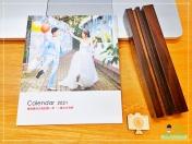 [婚禮] 婚紗木座桌曆4