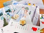 [婚禮] 婚紗木座桌曆7